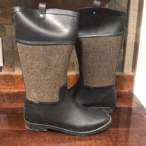 Merona Rubber Tall Boots, Size 7